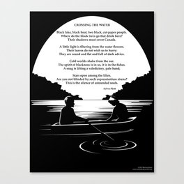Crossing the Water (poem) by Sylvia Plath Canvas Print