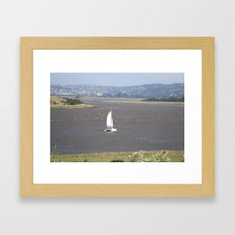 *Sailing into Launceston Tasmania* Framed Art Print