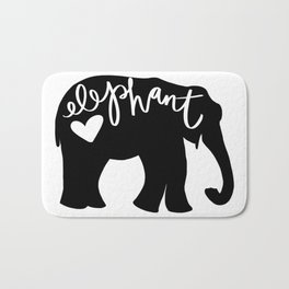 Elephant Love - Silhouette Bath Mat