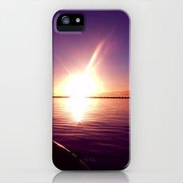 Port River Sunset iPhone Case