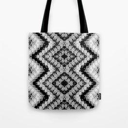 Black White Diamond Crochet Pattern Tote Bag