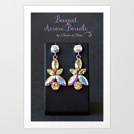Diamond Flowers Art Print