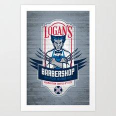 Logan's Barbershop Art Print