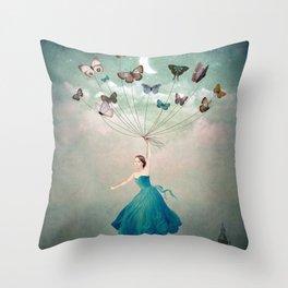 Leaving Wonderland Throw Pillow