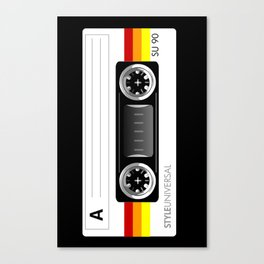 Retro audio cassette tape Canvas Print