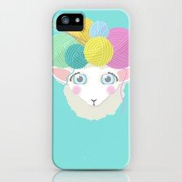 Sheepy Yarn Head iPhone Case