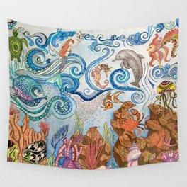 Ocean Zentangle Wall Tapestry
