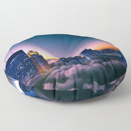 Minneapolis Above the Clouds Floor Pillow