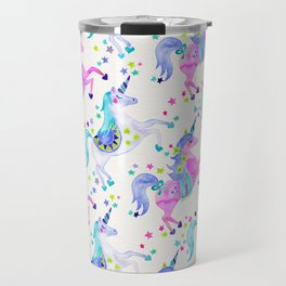 Pastel Unicorns Travel Mug