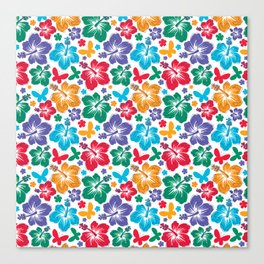 Hibiscus Pattern Canvas Print