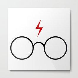 harrypotter glasses Metal Print