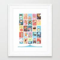 alphabet Framed Art Prints featuring Alphabet by Emily Golden
