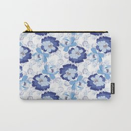 Blue Floral beauty Carry-All Pouch