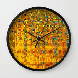 Abstract Klimt Wall Clock