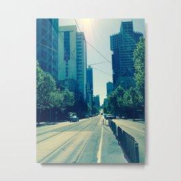 City Streets Metal Print