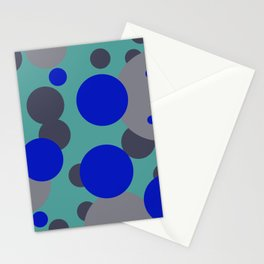 bubbles blue grey turquoise design Stationery Cards
