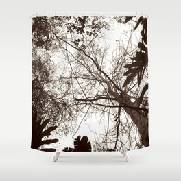 Memories of Endor 1 (B&W) Shower Curtain