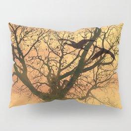 Twisted Autumn Tree At Sunset Pillow Sham