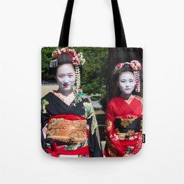 Geishas in Japan Tote Bag
