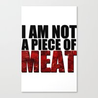meat Canvas Prints featuring MEAT by Nathan