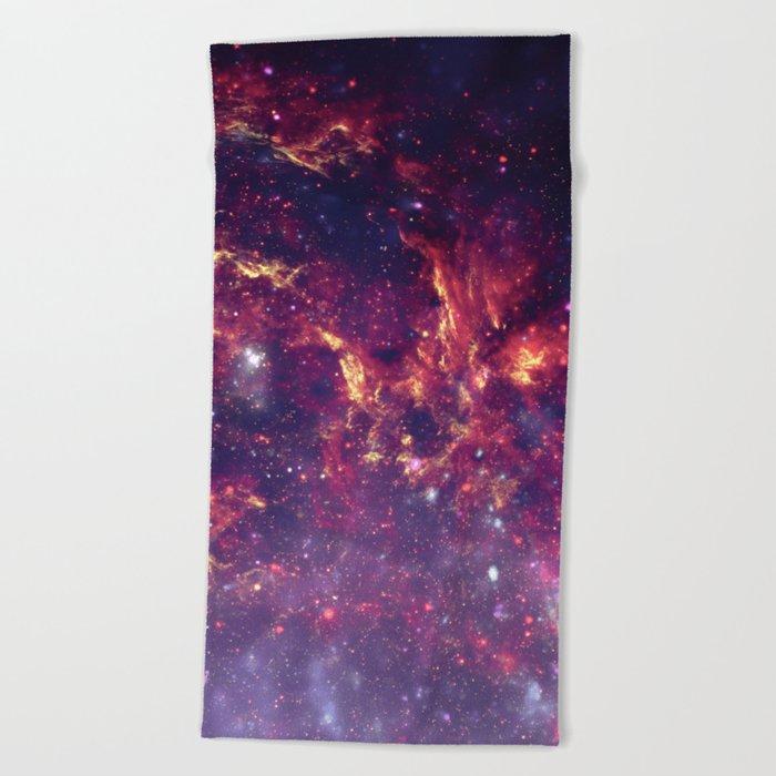 Star Field in Deep Space Beach Towel