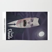 dracula Area & Throw Rugs featuring Count Dracula by Crooked Octopus