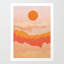 Mountains Sunrise Art Print