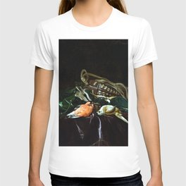 Willem van Aelst Still Life with Dead Birds and Game Bag T-shirt