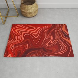Red Marble Stone Design Rug