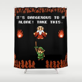 It's Dangerous to go alone! Shower Curtain