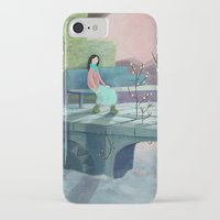 poem iPhone & iPod Cases featuring December Poem by Ofelia Yang