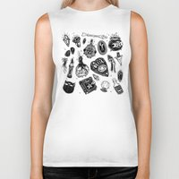 loll3 Biker Tanks featuring Witchy  by lOll3
