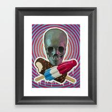 Skull x Pops Framed Art Print
