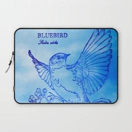 Bluebird Woodprint Laptop Sleeve