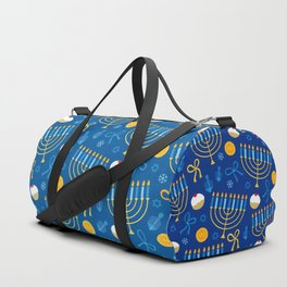 Hanukkah Menorah Pattern Duffle Bag