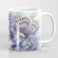 lavender Mugs featuring Lavender by A cup of grey tea
