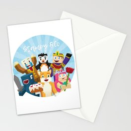 Stampy and his friends Stationery Cards