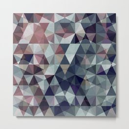 geometric pattern winter pink rose violet Metal Print