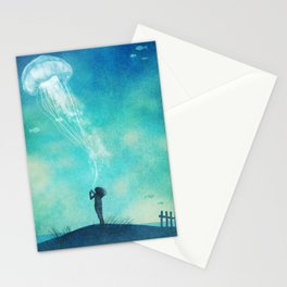 The Thing About Jellyfish Stationery Cards