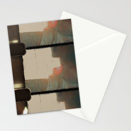 8mm vintage film strip Sunset on the field Stationery Cards