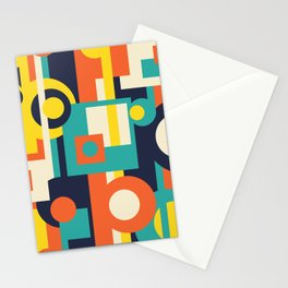 Funky Geometry (Modern Vibrant Color Palette) Stationery Cards