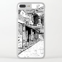 Herculaneum Courtyard Clear iPhone Case