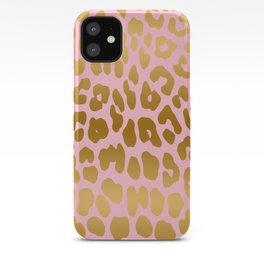 Leopard (Pink & Gold) iPhone Case