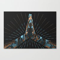namaste Canvas Prints featuring Namaste by Follow-d