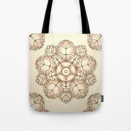 Beige elegant ornament fretwork Baroque style Tote Bag