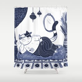 Harem Cat Shower Curtain