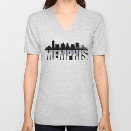 Memphis Silhouette Skyline Unisex V-Neck