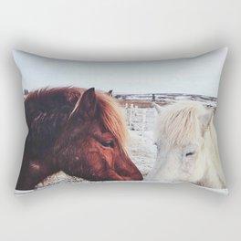 Shy kiss Rectangular Pillow