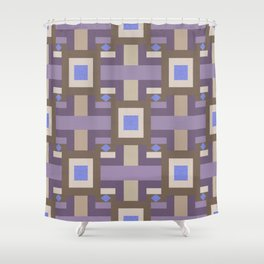 WINTER GEOMETRY PATTERN Shower Curtain