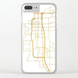 ANCHORAGE ALASKA CITY STREET MAP ART Clear iPhone Case